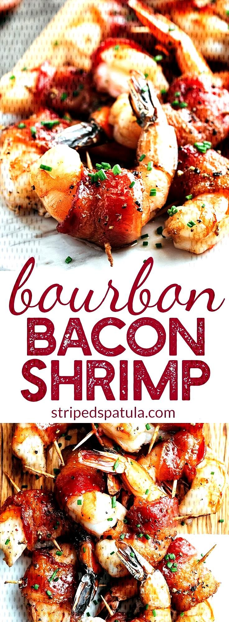 Bacon Wrapped Shrimp with Brown Sugar Bourbon Glaze - Bacon Wrapped Shrimp | Shrimp Recipes | Baco