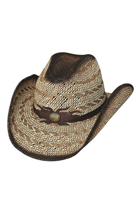 10X Straw Cowboy Hat Bullhide Black Gold