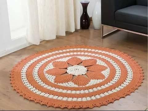 Alfombras Redondas Tejidas a Crochet o Ganchillo ( Diseños e ideas