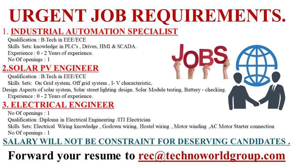 URGENT JOB REQUIREMENTS. forward your resume rec