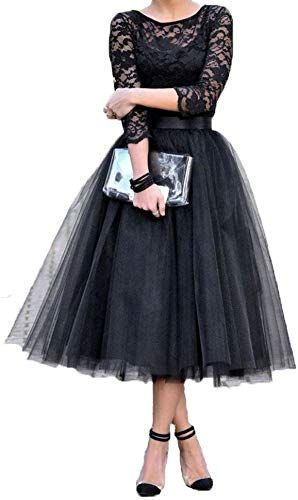 Amazing offer on CongYunGe Women's A-line Tea Length Long Sleeve Lace Prom Dress Vintage Cocktail Party Dresses online - Top10Ideas