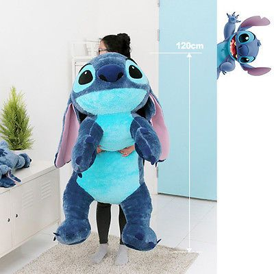 Flounder Stuffed Animal, Bnwt Soft 48inch Huge Giant Stitch Plush Toy Cushion Bed Body Pillow Decoration Lilo And Stitch Toys Stitch Doll Stitch Toy