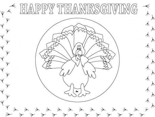 Thanksgiving Printables and Coloring Pages | Placemat ...
