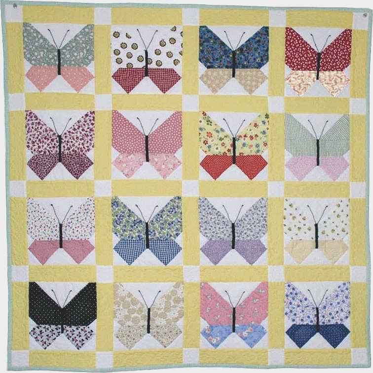 Retro Butterfly Quilt | Quilting,Sewing,Etc. | Pinterest ... : retro quilts - Adamdwight.com