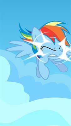 Rainbow Dash My Little Pony Mlp Cartoon Wallpaper Hd Android