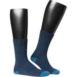 Photo of Hudson Herren Socken, Seide, dunkelblau melierte blaue Hudson Strümpfe