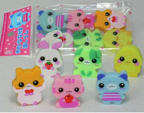 lemon erasers lemon japan roller erasers animal kawaii jilly bean kids