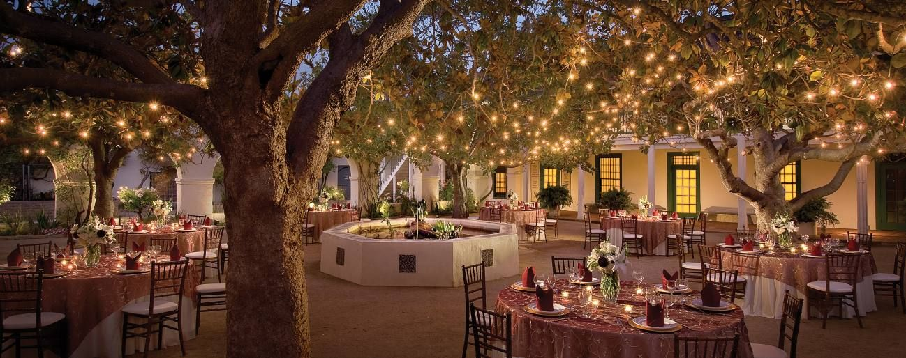 Weddings In Monterey Portola Hotel Spa Monterey Wedding Memorial Garden Smallest Wedding Venue