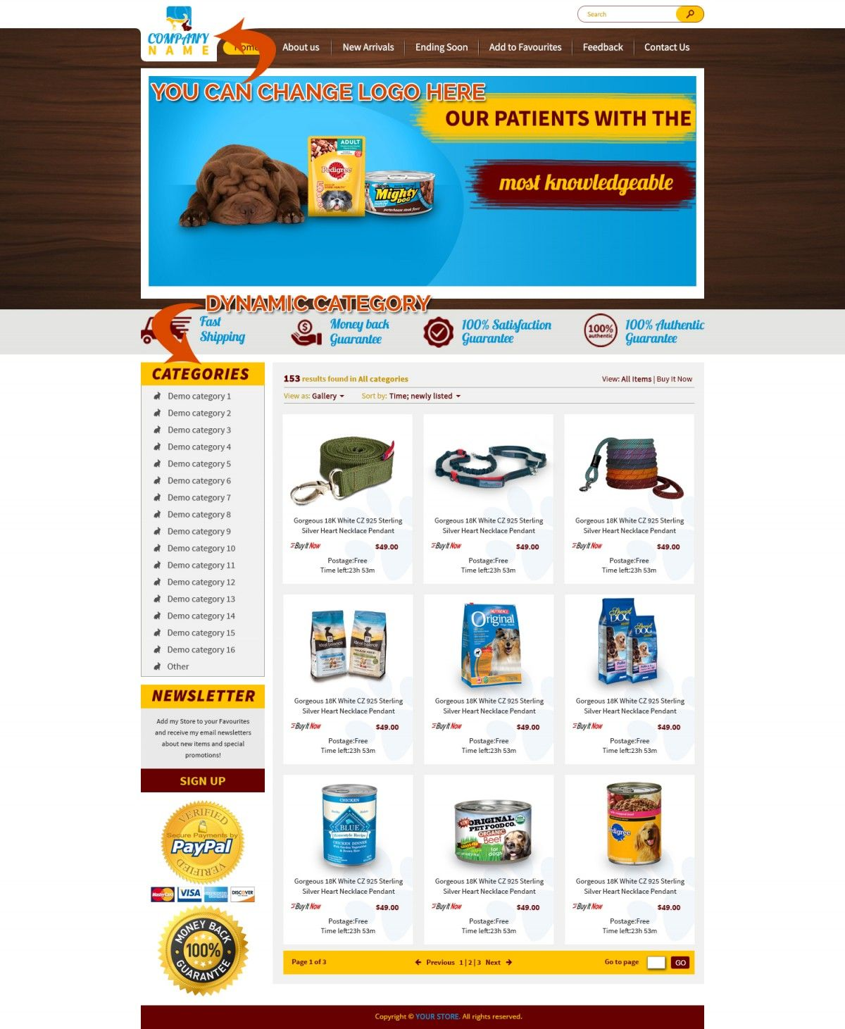 Cute Puppy EBay Storefront Templates Listing Designs EBay - Ebay storefront templates