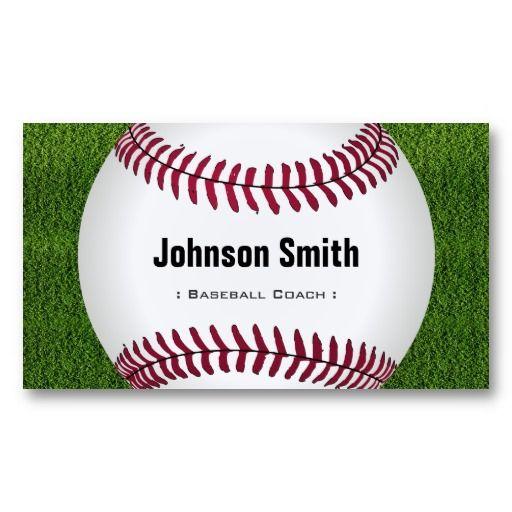 Cool Baseball Softball Coach Player Trainer Staff Business Card Zazzle Com Softball Coach Baseball Softball Softball