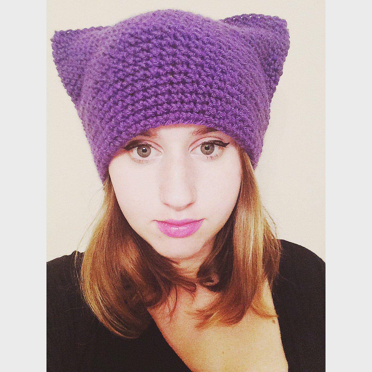 Funky Crochet Cat Hat Pattern Embellishment - Easy Scarf Knitting ...