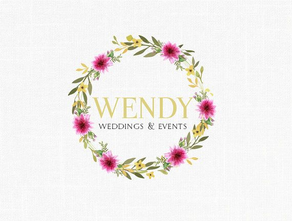 Premade Floral Wedding Logo Design Florist Logo Photography Logo Boutique Logo design