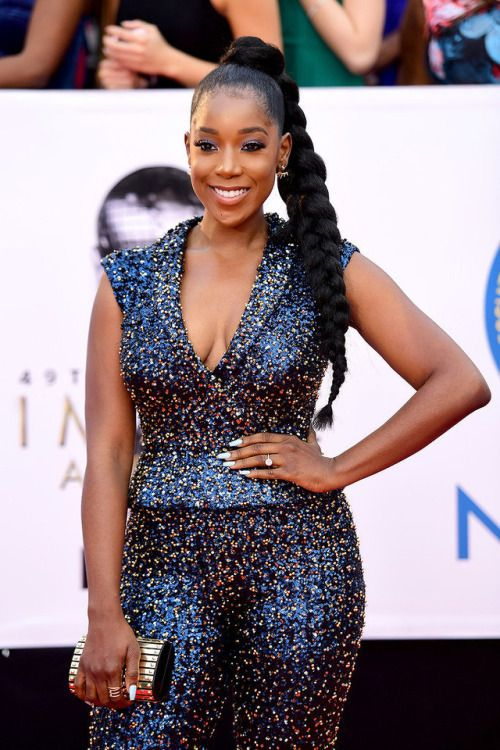 sophokonedo Ashley Blaine Featherson attends the 49th NAACP