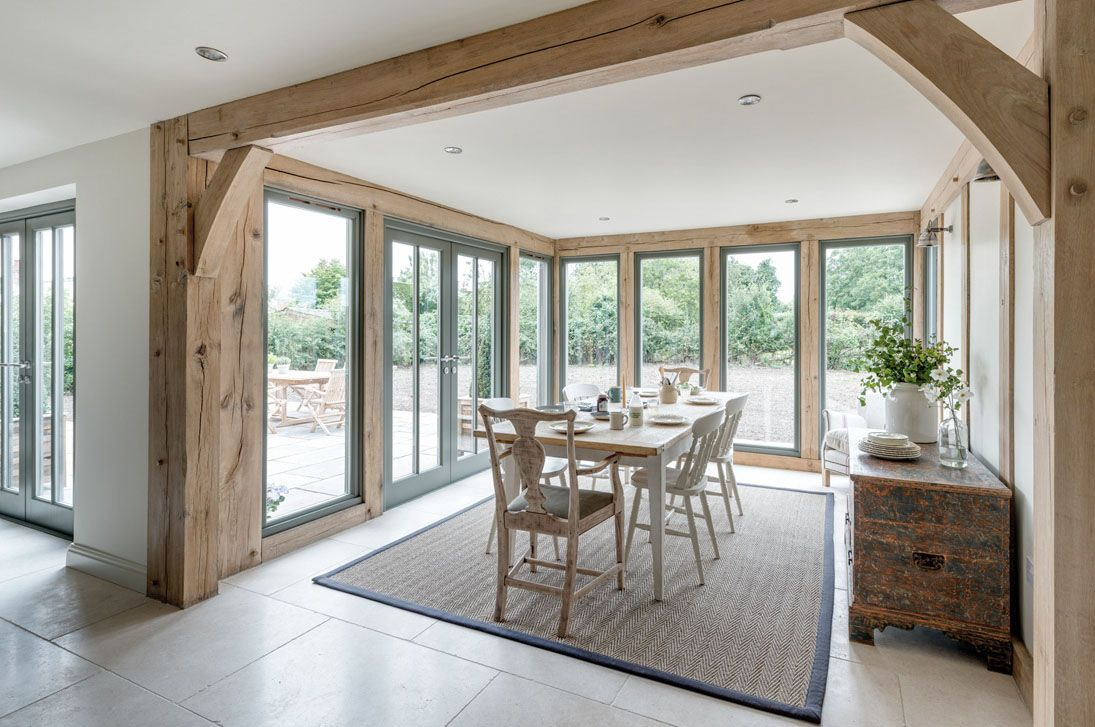 Photo of Not a timberframed house, but just one room to look that way.