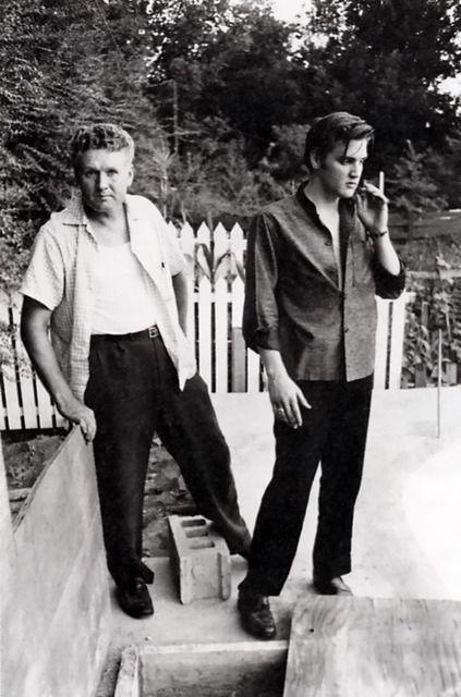 Elvis and Dad at graceland
