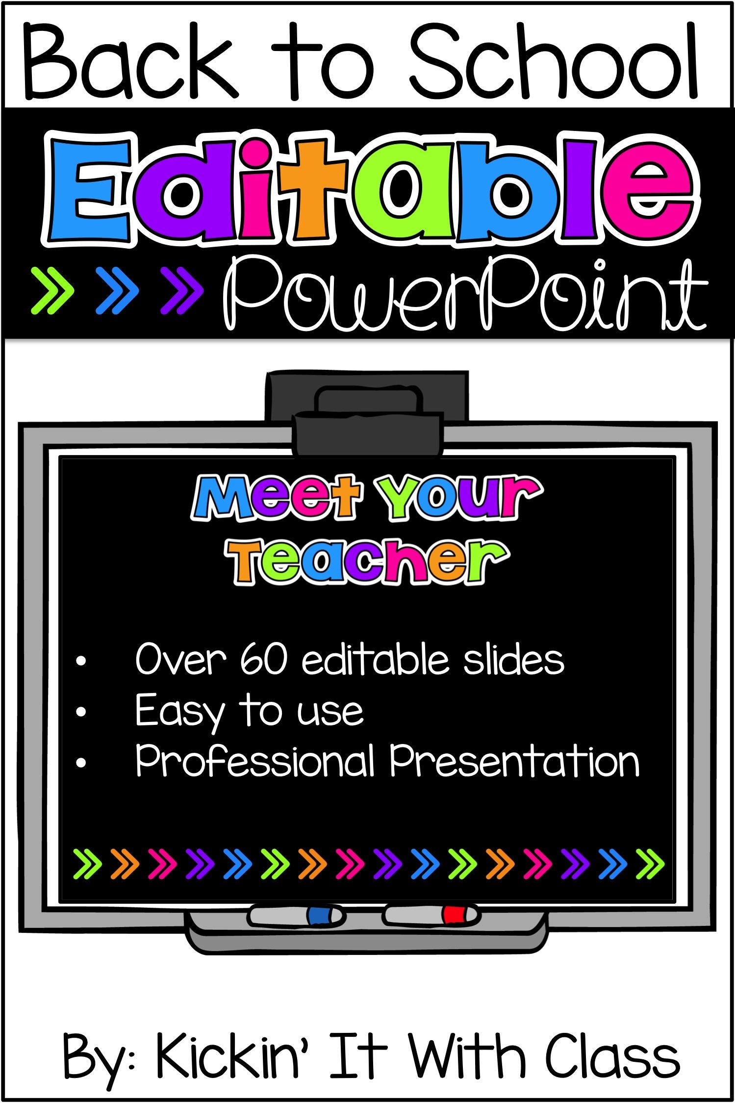 Brights Back To School Powerpoint Open House Pinterest Power