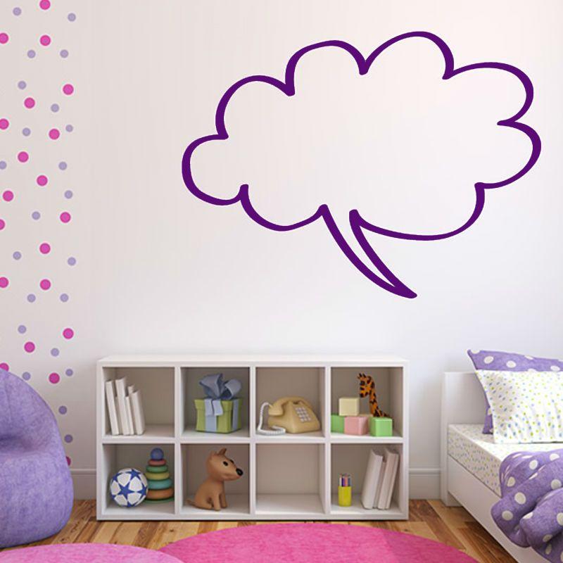Superb Cloud Shape Speech Bubble Wall Sticker Decorative Children Bedroom Wall  Simple Design Home Decor Vinyl Hollow