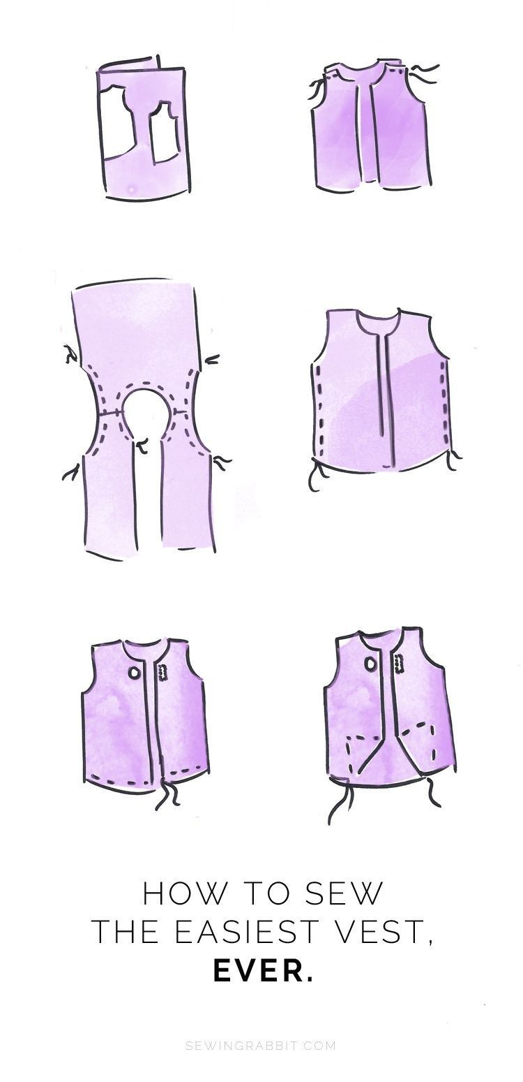 23+ Great Picture of Vest Pattern Sewing -   15 DIY Clothes Dress beginners sewing ideas
