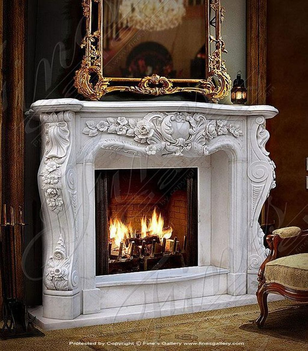 32 Inspiring Fireplace Mantel Decor Ideas For Wintertime French