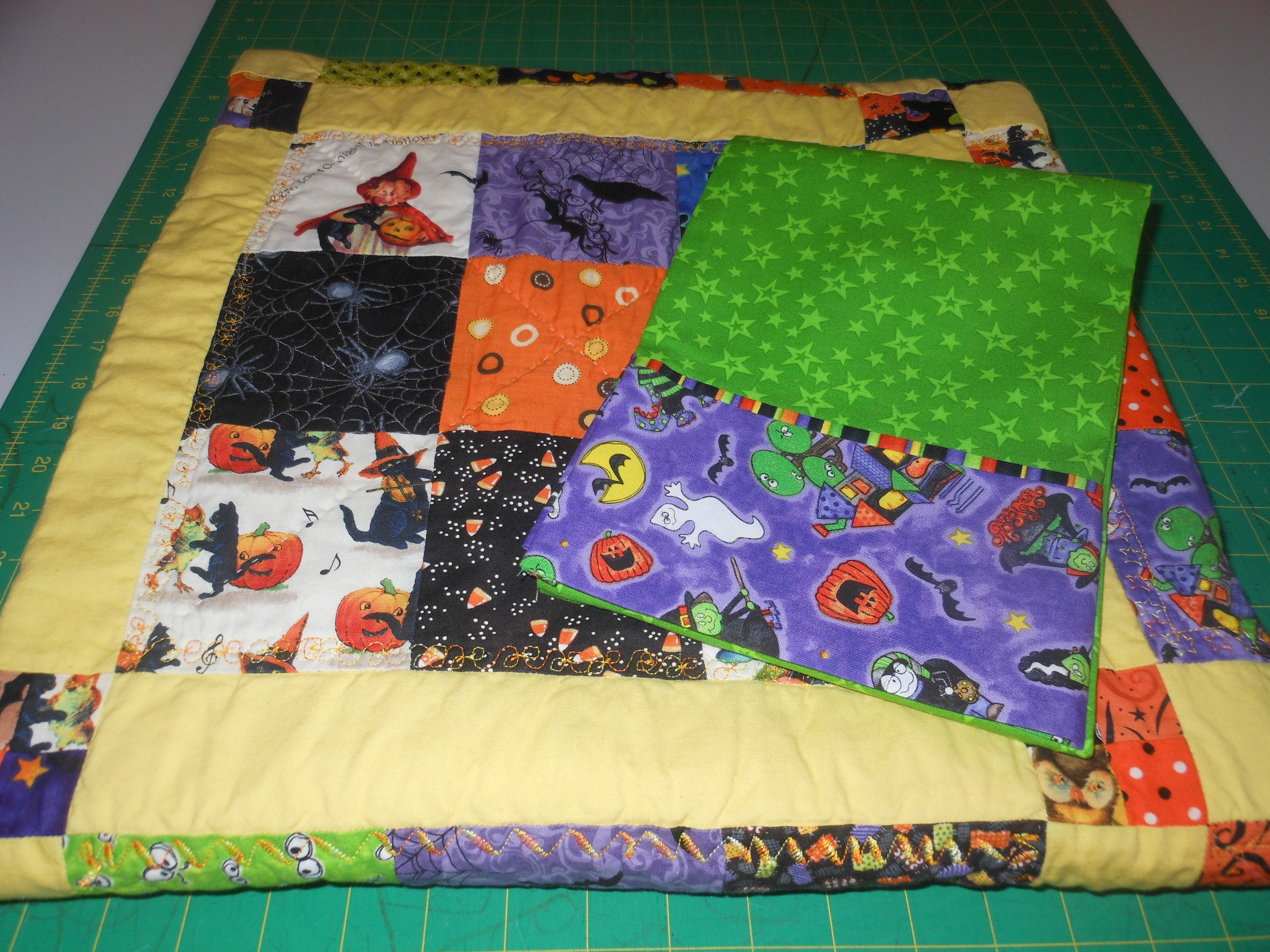 Leecy's Halloween quilt/pillow case!
