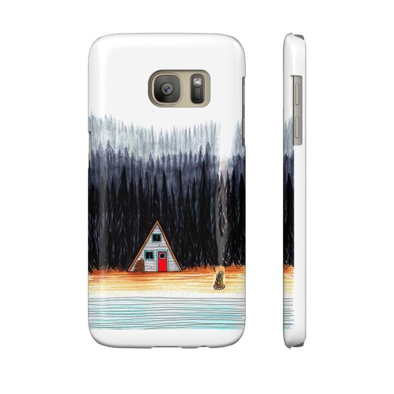Cabin By The End Of The Road Phone Case