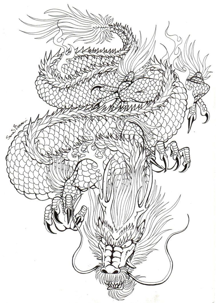 Japanese dragon tattoo concept by nocturnalsong23 tattoo for Japanese tattoo art