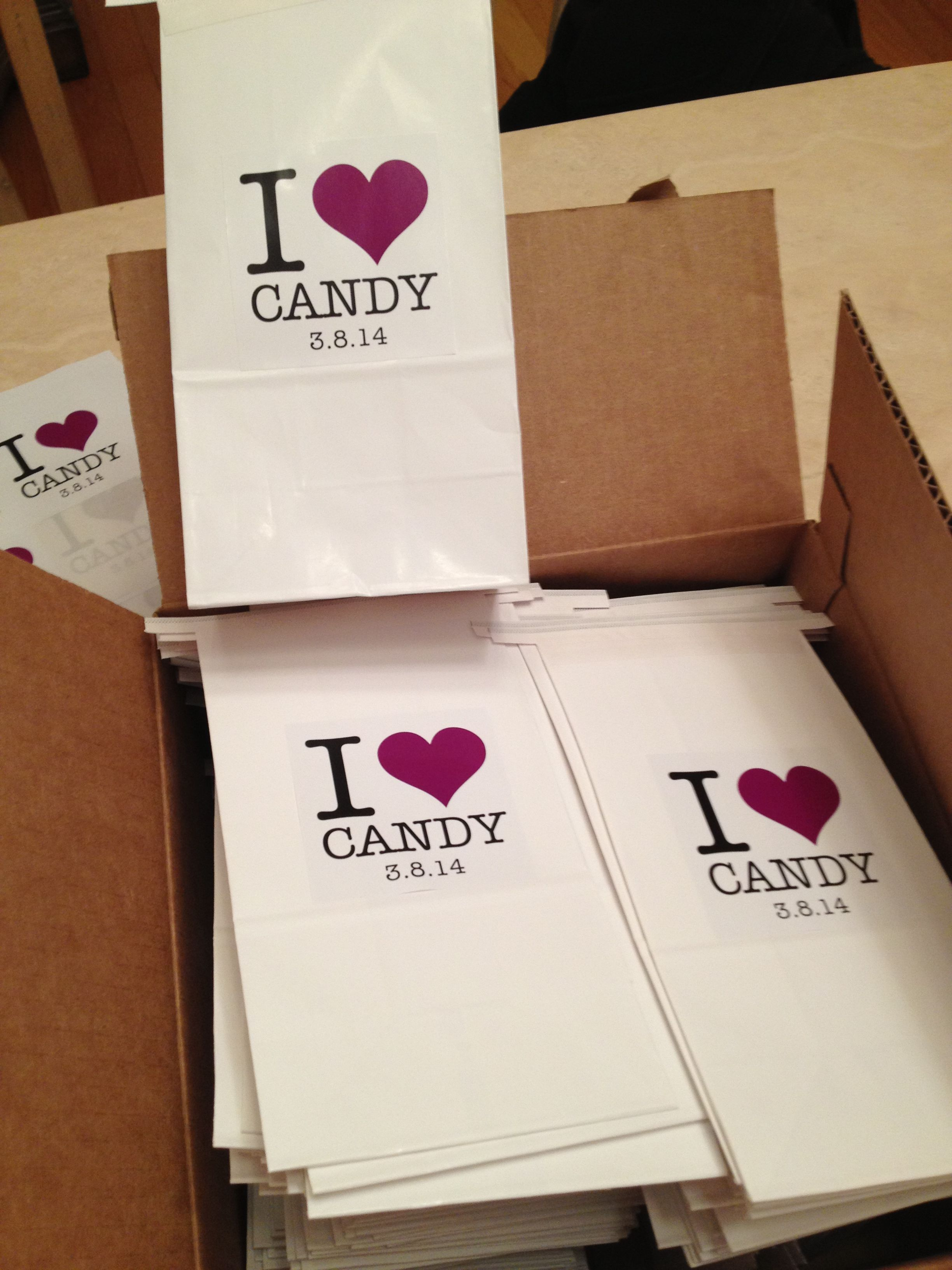 Candy Bags For A Dessert Table Sabella Berman Events