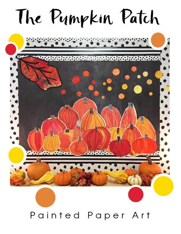 Van Gough - Pumpkin patch inspired art project for elementary school kids! #pumpkinpatchbulletinboard
