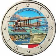 2 Euro Münze Malta Flug 2015 Euro Malta Pinterest Euro Münzen