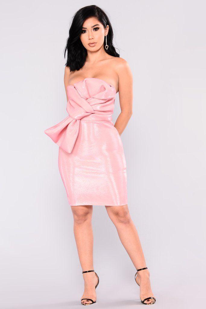 Rose Petals Tube Bow Dress - Pink | Pinterest | Vestidos ceñidos ...