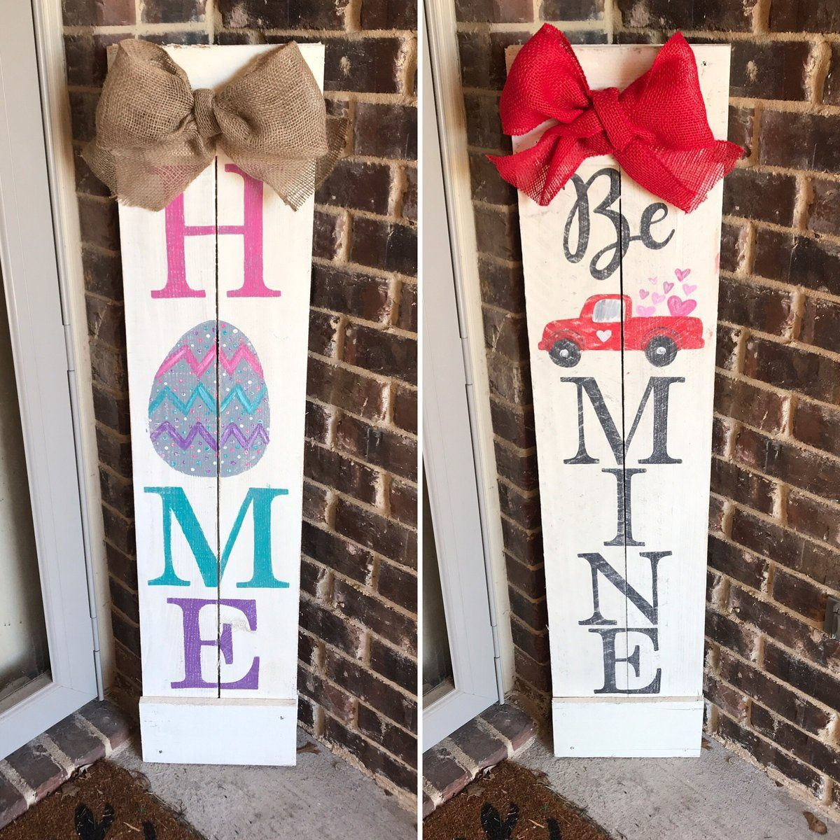 Valentines Day Easter Porch Sign Porch Signs Valentines Sign Valentines Diy