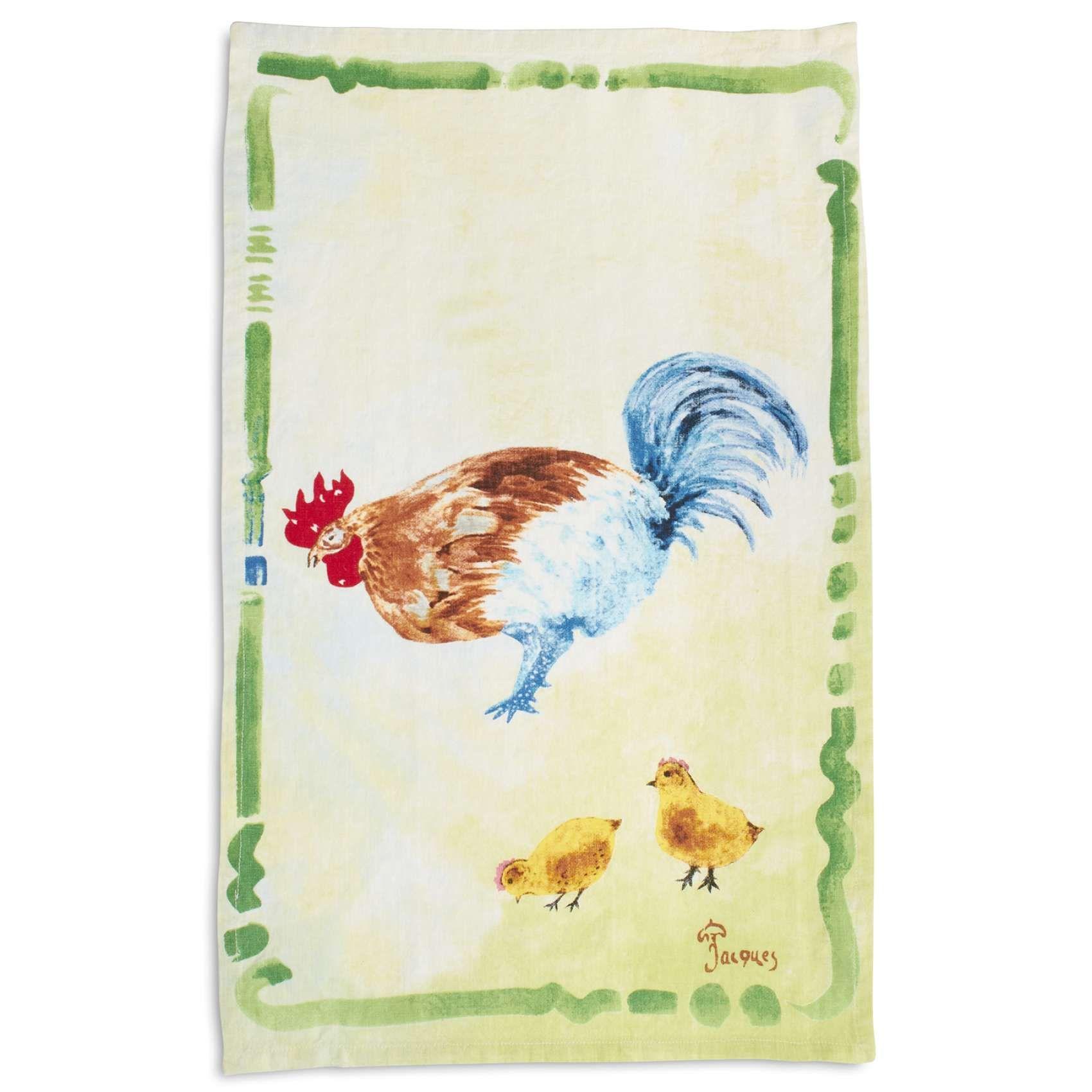 Jacques Pepin Collection Chicken With Chicks Linen Kitchen Towel 28 X 18 Sur La Table Linen Kitchen Towels Kitchen Towels Sur La Table