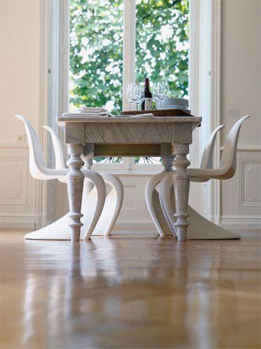 Freischwinger Panton Chair Antik Meets Modern Marmor Esstische