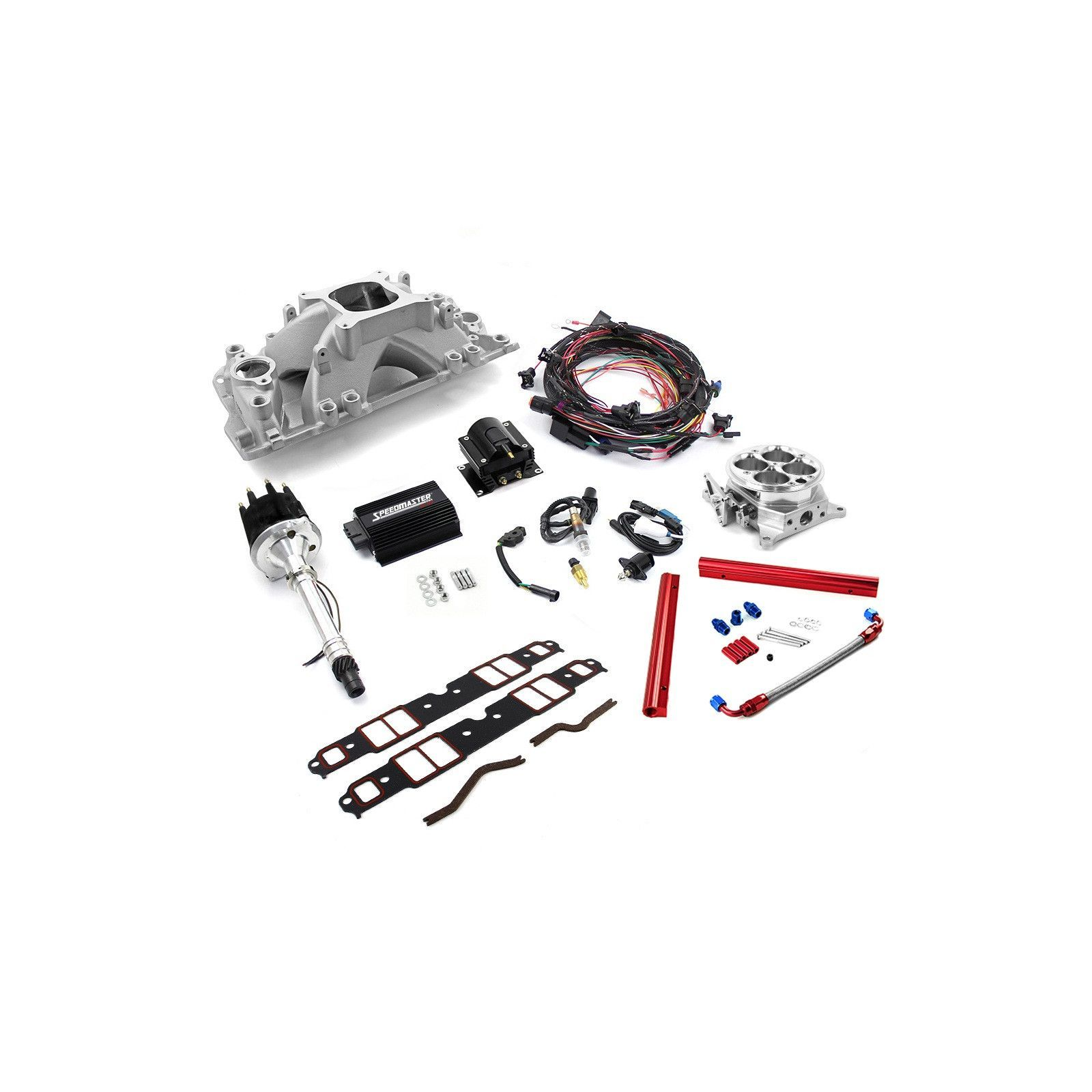 chevy sbc 350 self learning turnkey efi single throttle body system kit