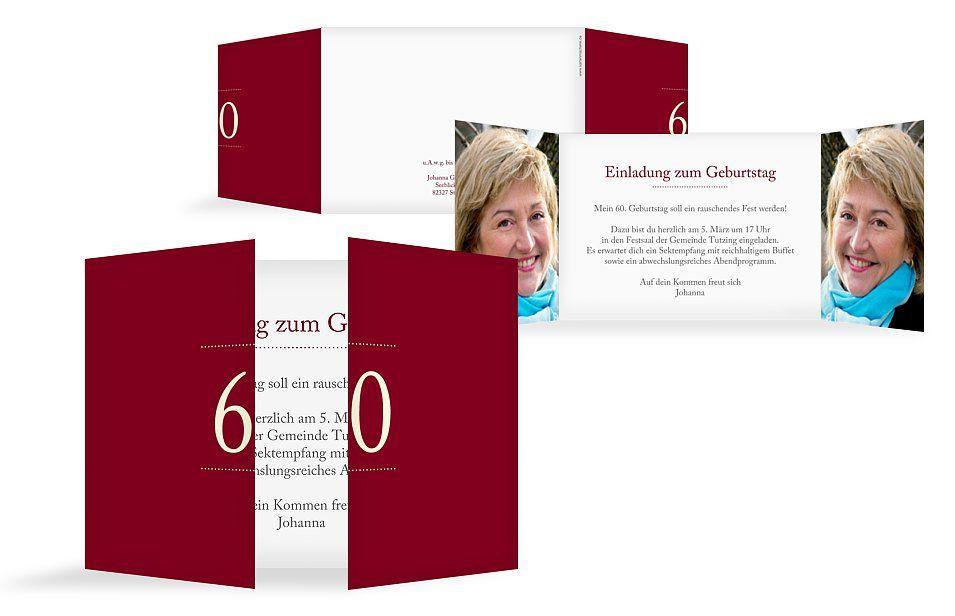 Einladung 60 Geburtstag Schreibklar Geburtstag