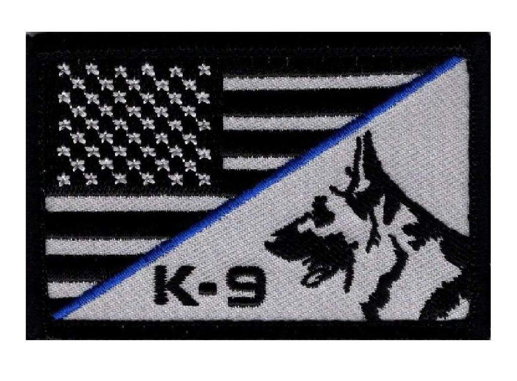 Sew On Thin Blue Line United States Flag Patch Police SWAT Iron On