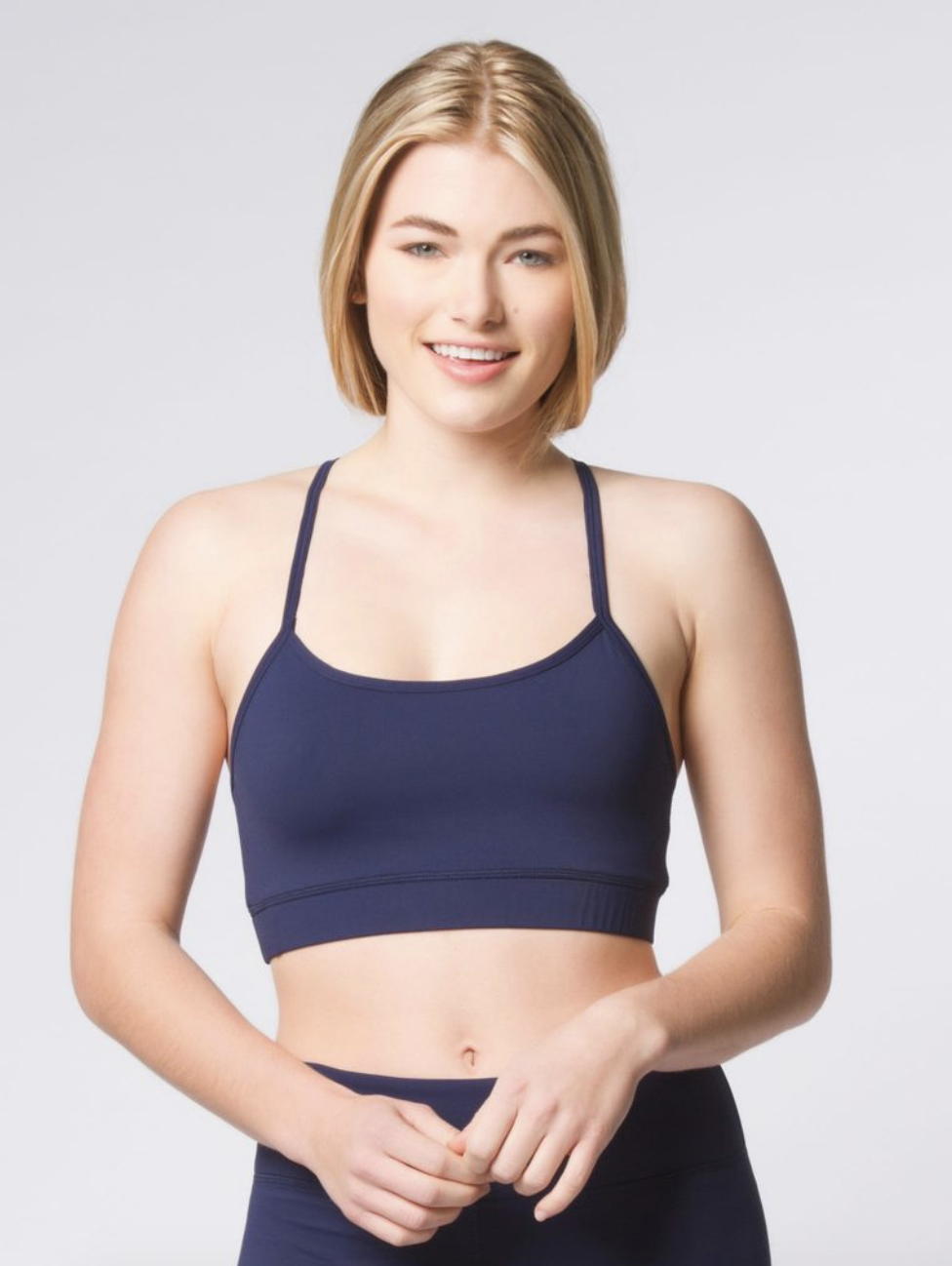 1c05f40dd1 Navy Strappy Bra Shop this adorable and comfortable bra! Designed by  Domingo Zapata