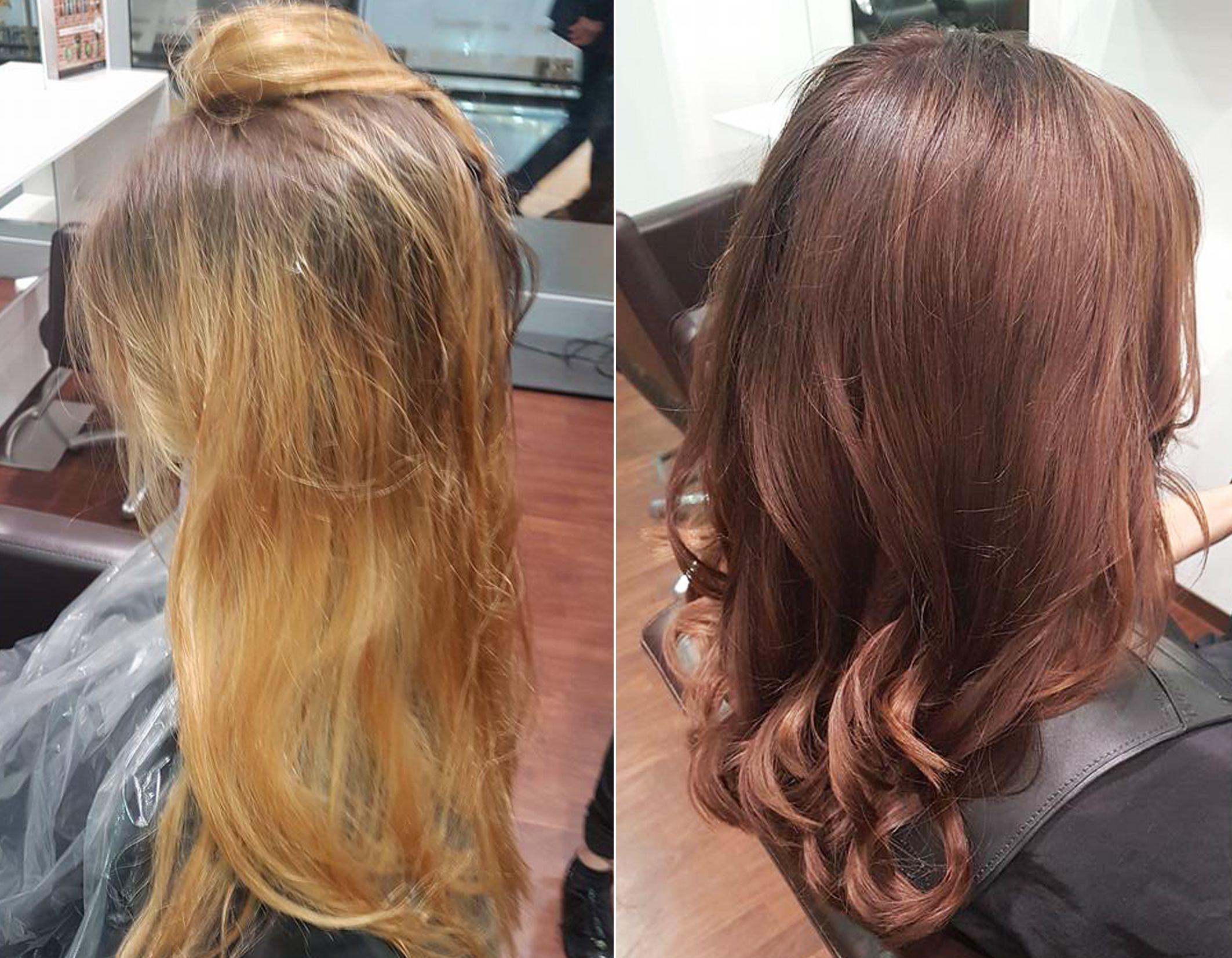 Frisuren Vorher Nachher Haarfarben Trends Friseur D Machts Lounge