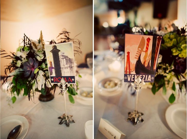 A Tuscan-Inspired Real Wedding - Table Setting inspired by Italian ...