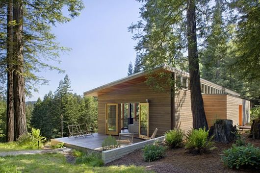 Modern Cabin Design floor plan ideas for building a house affordable modern cabin plans with insulating sloped roof ceiling for living room modern cabin design plans Modern Cottage Design Sebastopol Residence By Turnbull Griffin Haesloop Architects