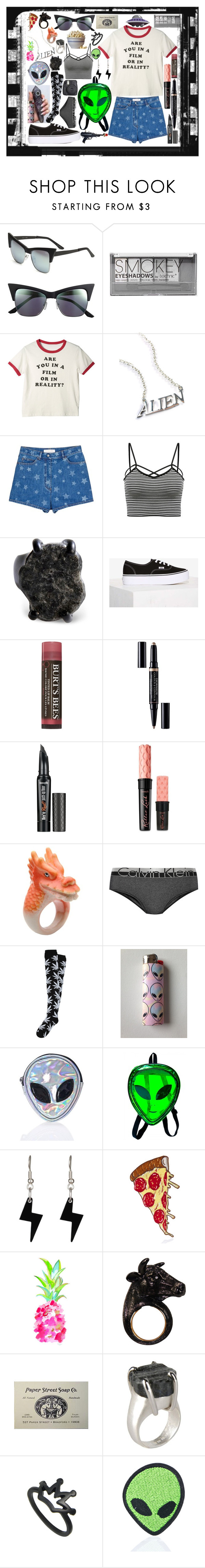 """Not In Reality"" by lenbb ❤ liked on Polyvore featuring Quay, Boohoo, Disturbia, Valentino, Maison Margiela, Vans, Burt's Bees, Christian Dior, Benefit and Nach"
