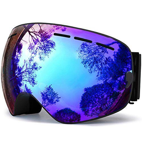 cd23742ccdf8 Hongdak OTG Ski Goggles Snowboard Goggles UV Protection Snow Goggles Helmet  Compatible Anti fog Winter Sports Goggles Outdoor Goggles Over Glasses  Skiing ...