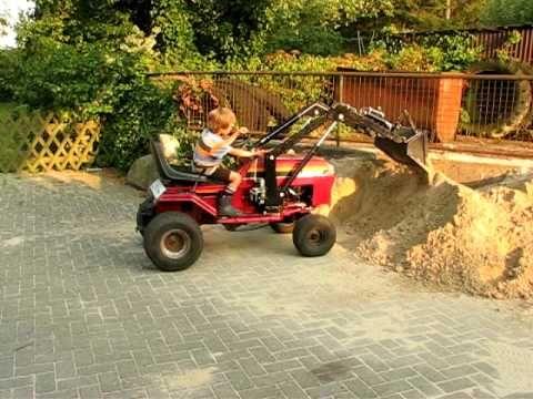 Rasentraktor Mit Frontlader Lawn Mower Front End Loader Garden Tractor Tractor Idea Tractors For Kids