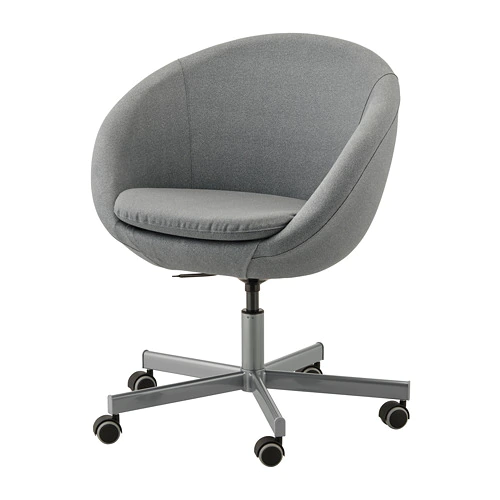 SKRUVSTA Flackarp medium grey, Swivel chair IKEA Desk