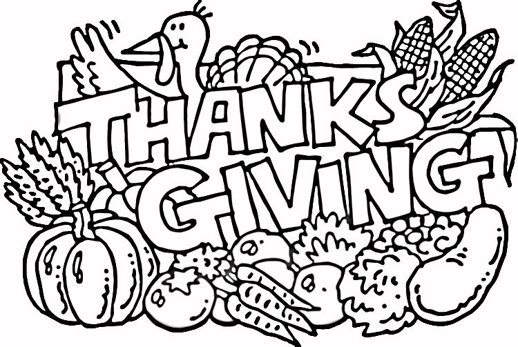 Give Thanks Coloring Page Clip Art Free Thanksgiving Coloring