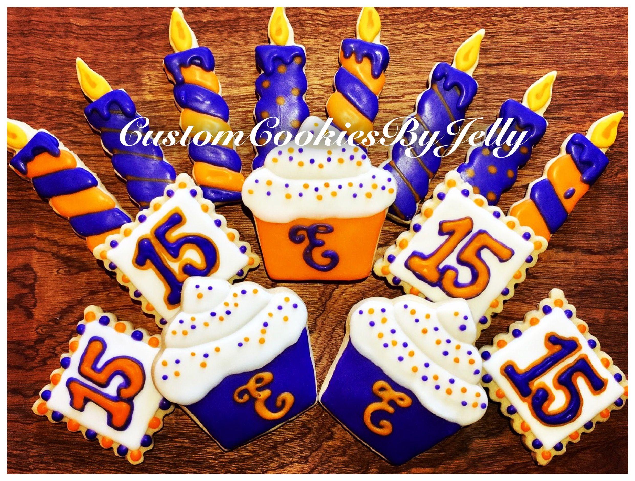 Birthday Sugar Cookies @CustomCookiesByJelly