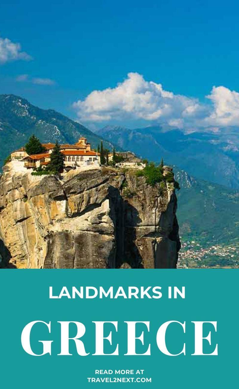 Monastery of Holy Trinity is a stunning Greek landmark high on a cliff. #europe #travelideas #greece #traveltips #hellenic #traveldestinations