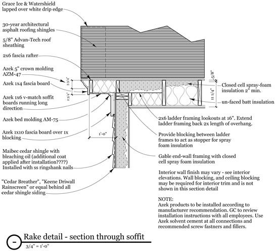 Details Architecture Details Roof Sheathing Moldings And Trim