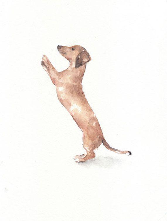 Dog Dog Print Animal Print Giclee Art Watercolor Watercolor