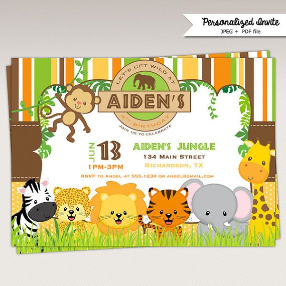 Printable Safari Baby Shower Invitations is great invitation layout